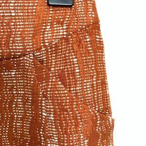 J. Crew Skirts - J Crew Metallic Orange Pencil Skirt